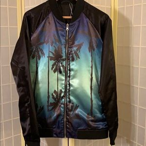 Men's Rails reversible sunset satin bomber -L